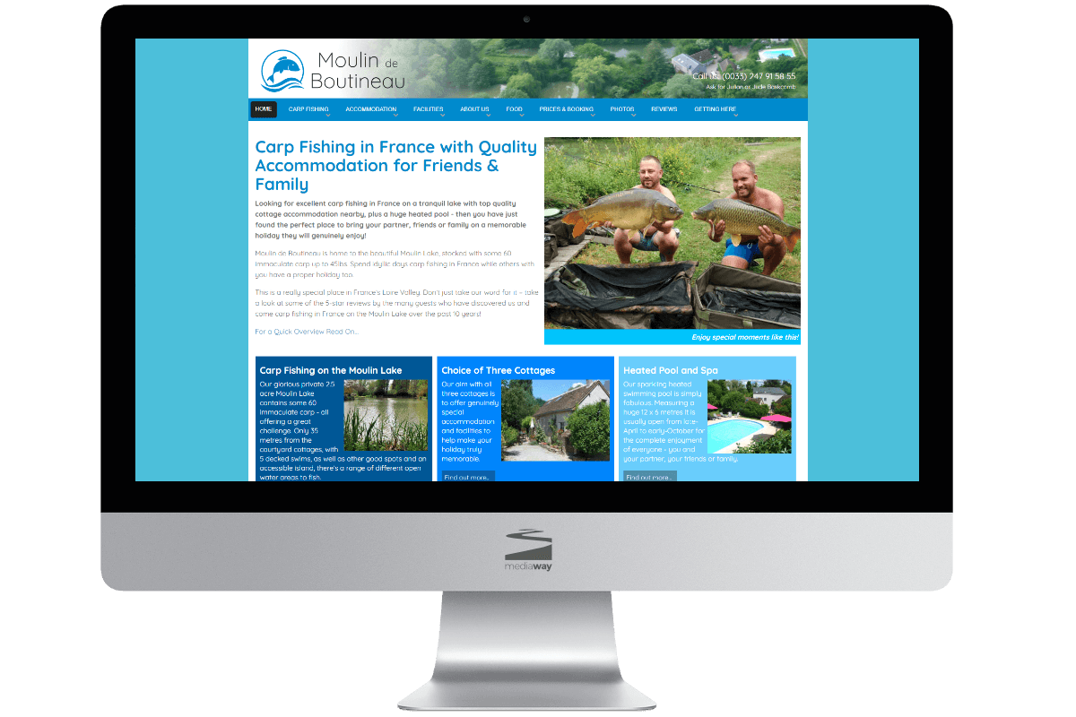 Loire Fishing Holidays Website